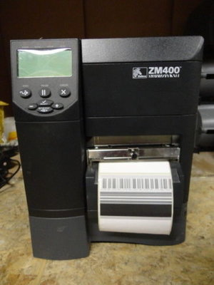Zebra ZM400 * Thermisch Transfer Label Printer 203DPI - USB + RJ-45 + CUTTER